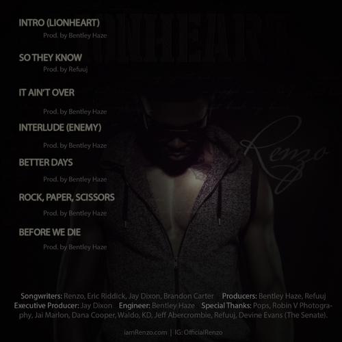 Renzo Lionheart tracklist