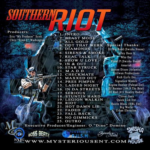 Dino x Mizz 911 (@Mysterious_ent) 'Southern Riot' Mixtape tracklisting
